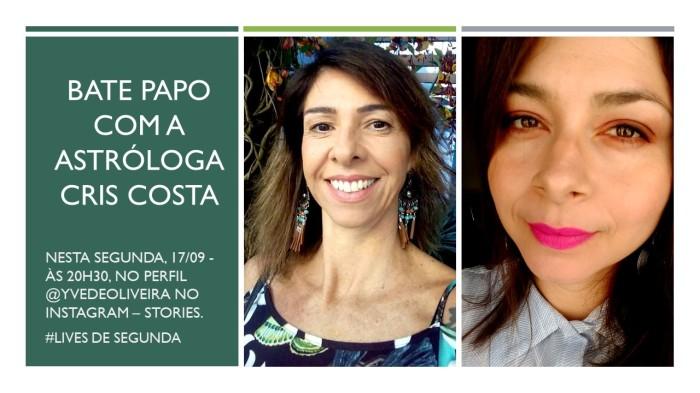 Entrevista sobre astrologia com Cris Costa – Lives deSegunda